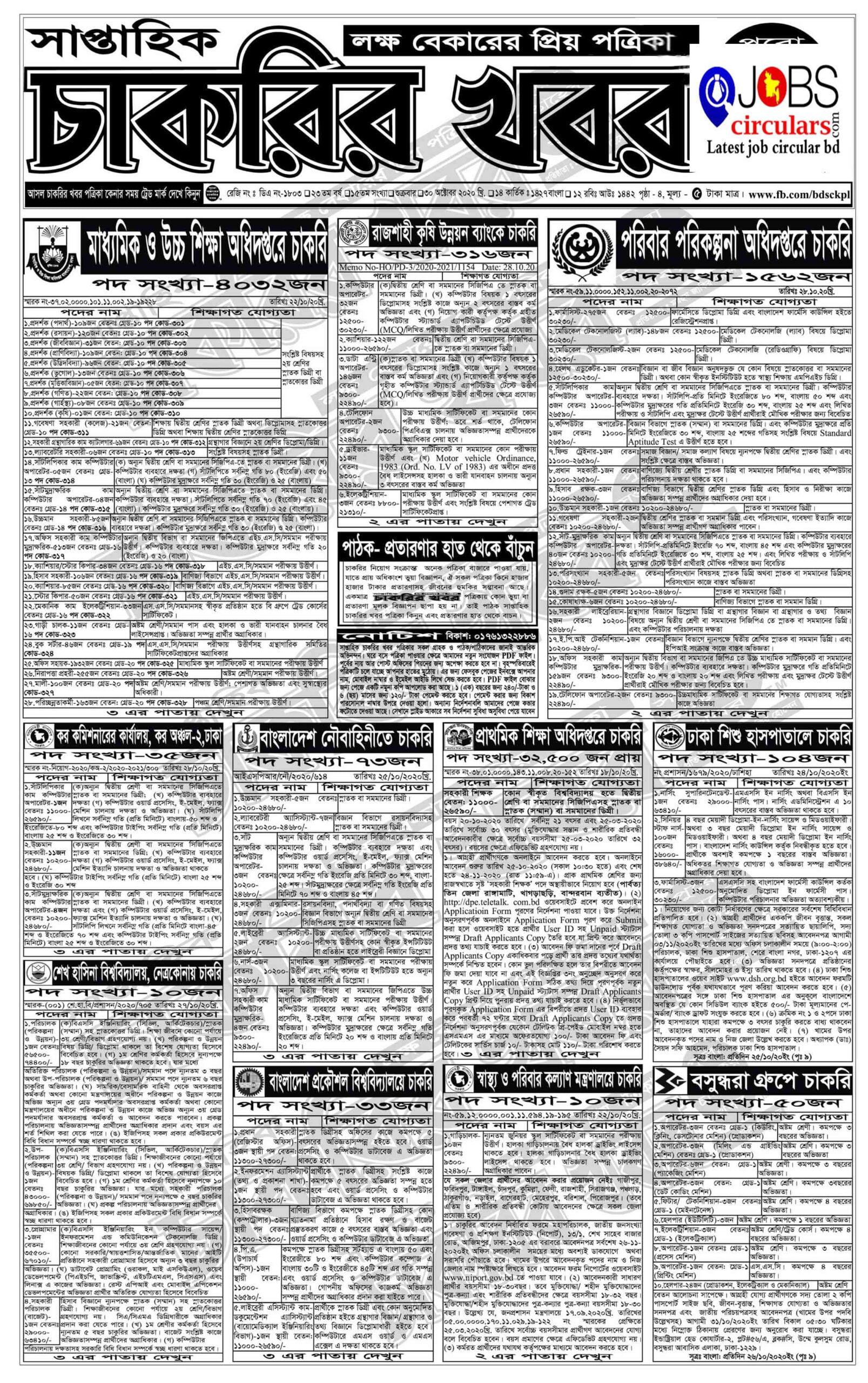 chakrir khobor e chakrir paper